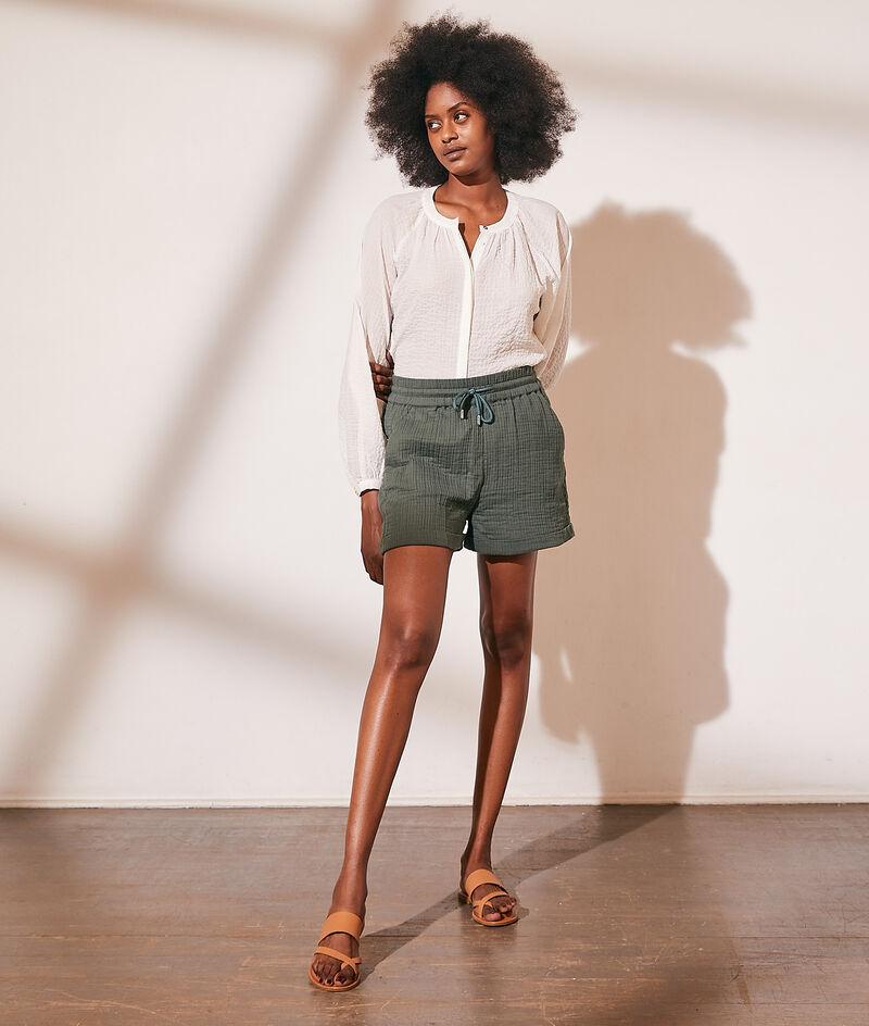 Shorts van katoengaas