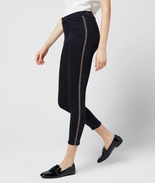 Jean slim à bandes latérales léopard Etam Etam Prêt-à-porter > LES VÊTEMENTS > Jeans > Slim