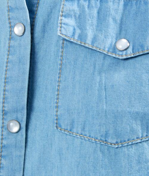 Chemise en jean sans manches