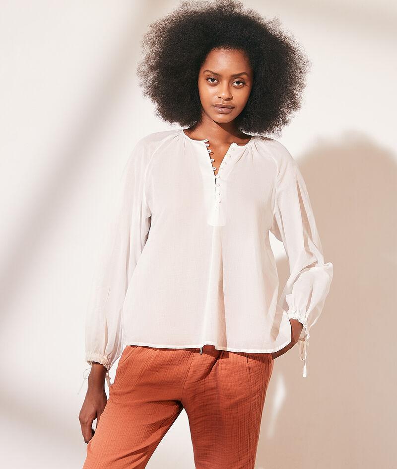 Transparante katoenen blouse