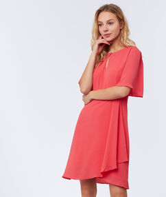 Robe portefeuille corail.