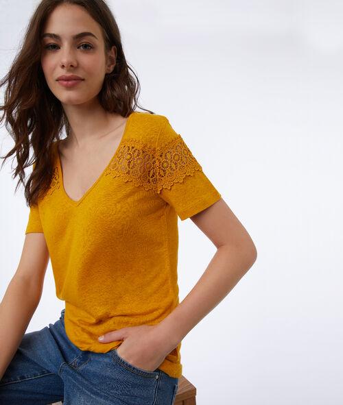 T-shirt à guipures Etam Etam SOLDES - Prix minis et Bonnes Affaires > SOLDES PRET-A-PORTER > Tops & T-shirts