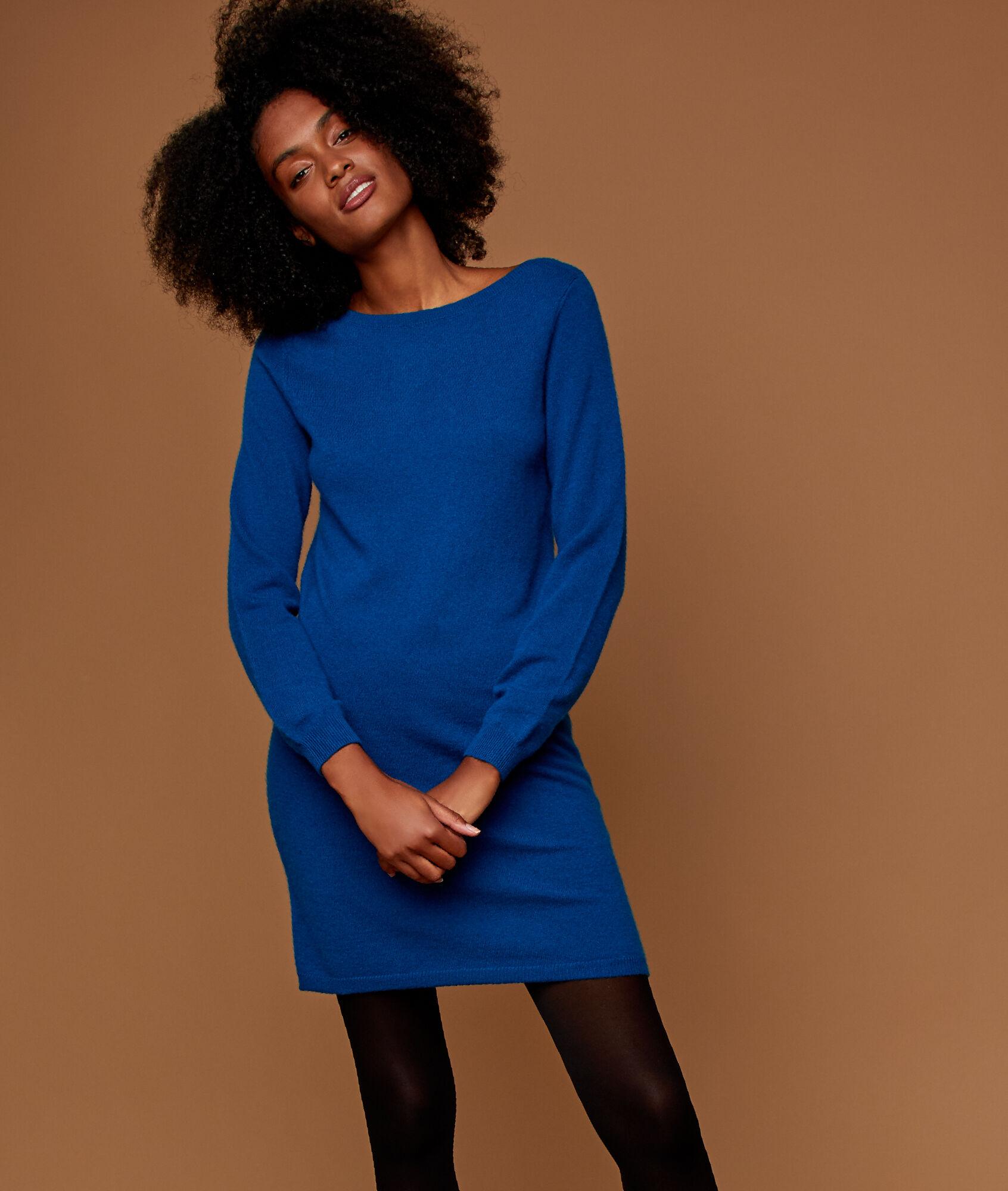 style moderne braderie rabais de premier ordre Robe pull 100% cachemire - VENUS - MOONLIGHT - Etam