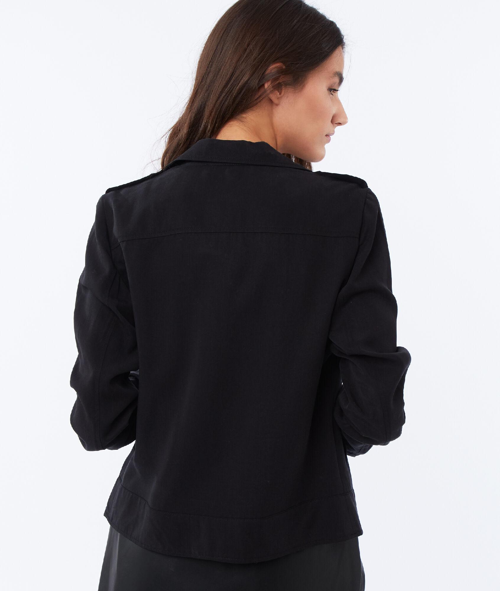 Etam Tencel® Blouson En Souka Zippé Noir Xxzgwq74