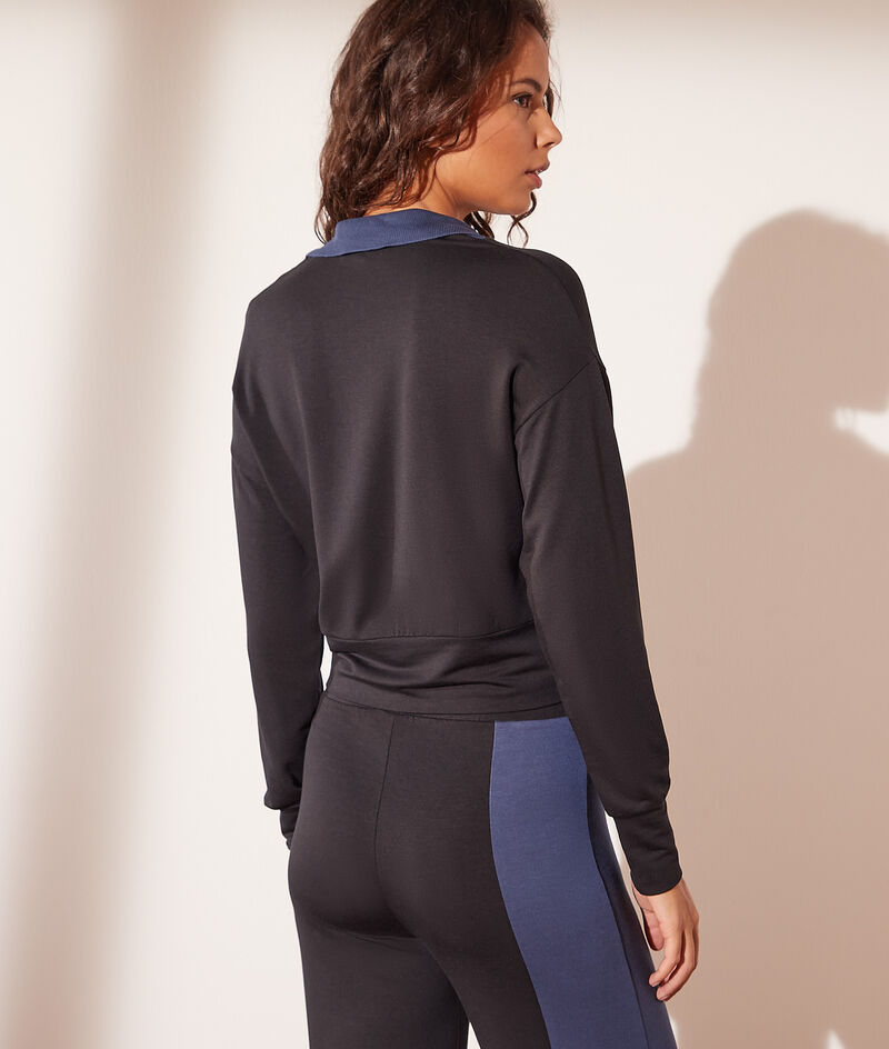 Sweater met ritssluiting en opstaande kraag