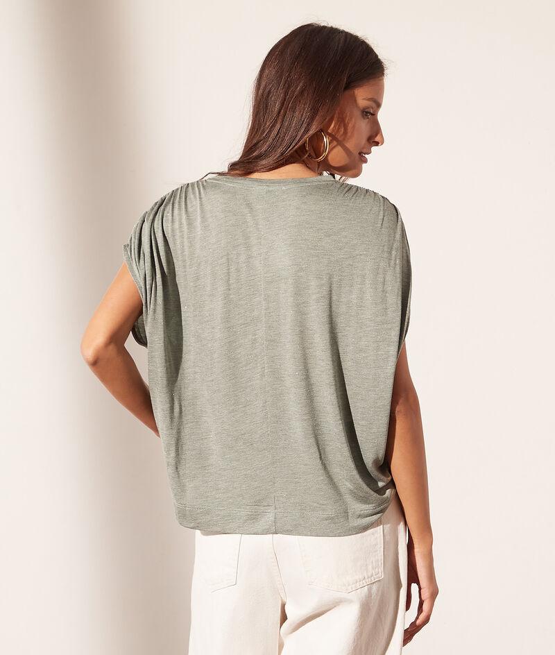 Mouwloos T-shirt met ronde hals