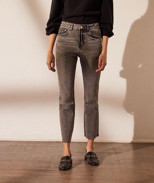 Rechte jeans met gebleekt effect
