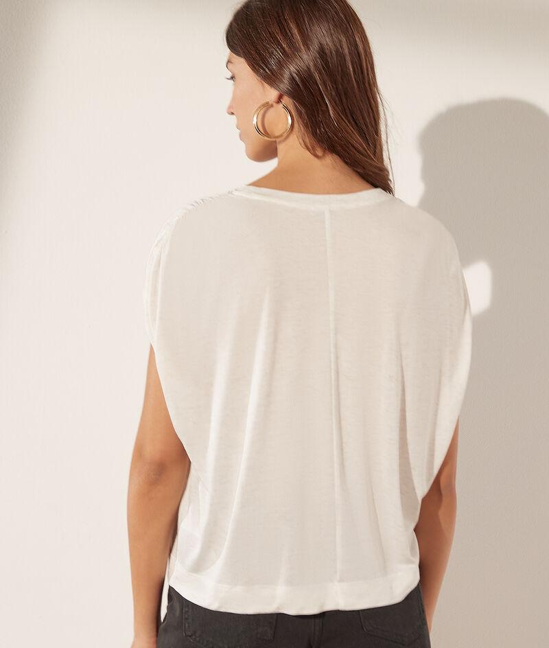 T-shirt sans manches col rond