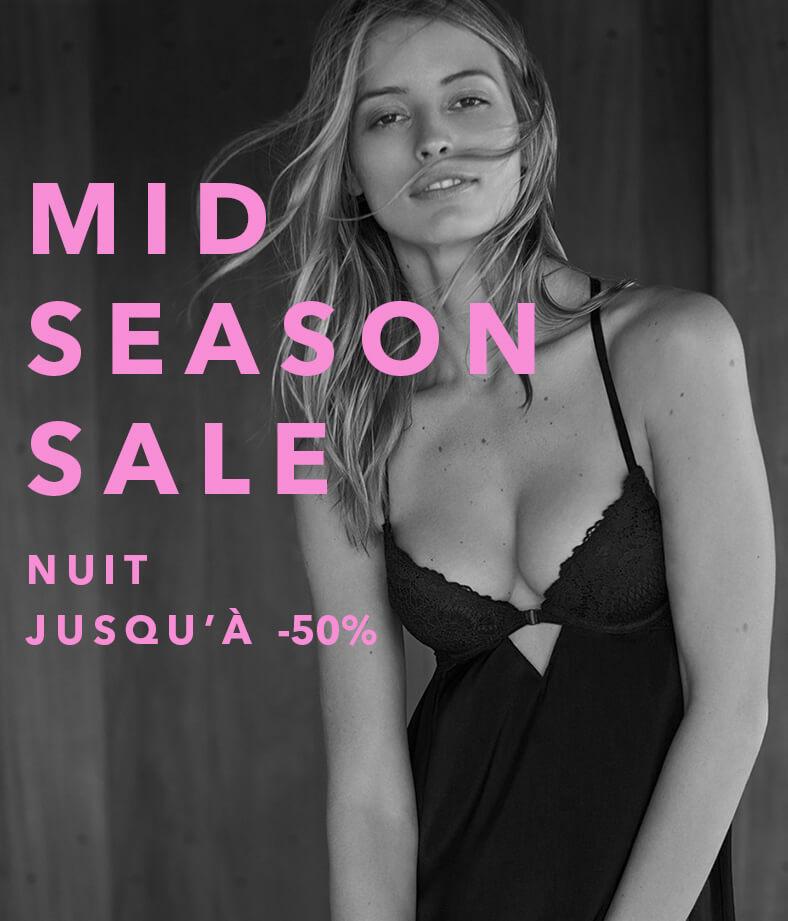 Mid season sale nuit jusqu'à -50%