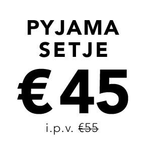 Pyjamas setje €45 i.p.v 55€