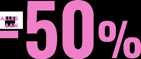 Solden tot -50%
