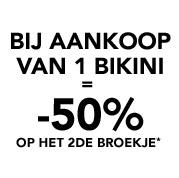 Bij aankoop van 1 bikini = -50% op het 2de broekje*