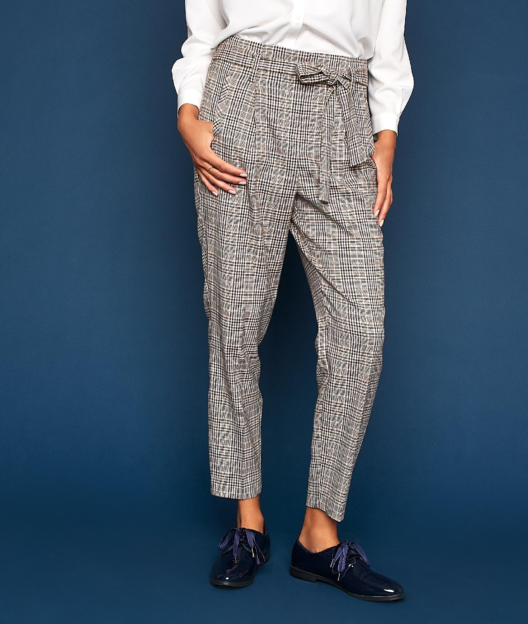 Pantalon motif prince de galles dune.